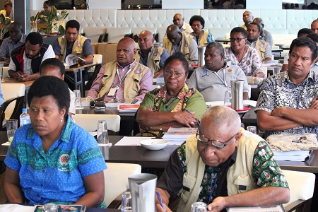 Participants of the workshop orientation at the City Boutique Hotel in Port Moresby
