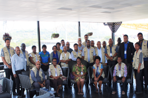 ACFE members pose for a group photo after the orientation workshop at the City Boutique Hotel in Port Moresby.